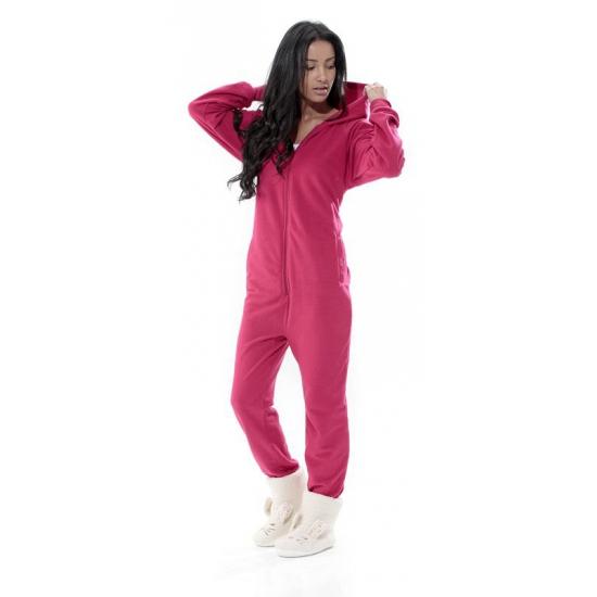 Fuchsia roze onesie jumpsuit voor dames