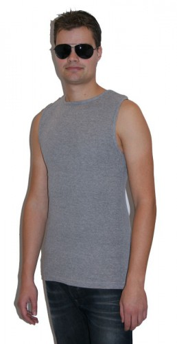 Sleeveless shirt Tarell grijs