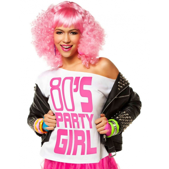 Wit t shirt 80s party girl
