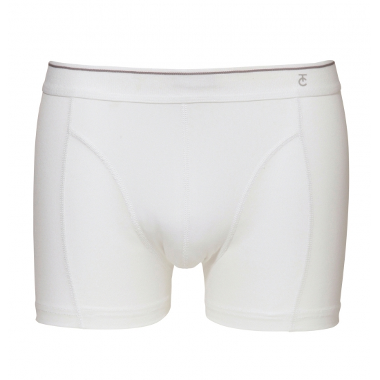 Zacht katoenen heren short wit Ten Cate