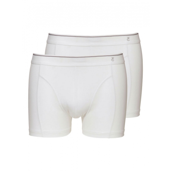 Zacht katoenen heren shorts set wit