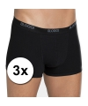 3x sloggi basic heren shorty zwart