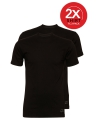 Ten cate zwarte heren t shirts 2 pak